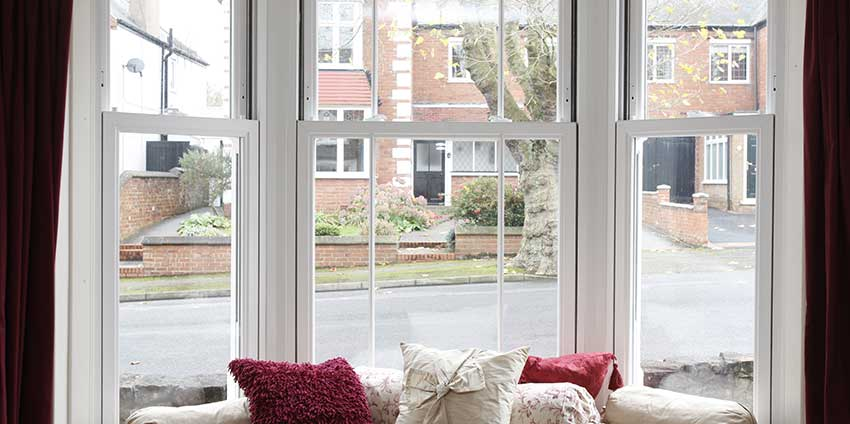 white upvc sliding sash window Beaconsfield