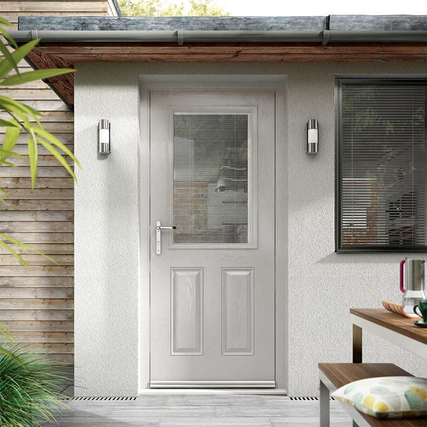 Light Grey composite entrance door