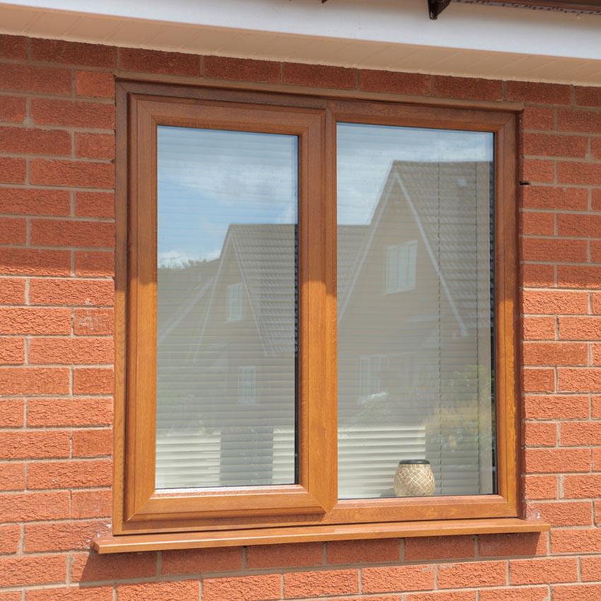 Oak effect uPVC casement window High Wycombe