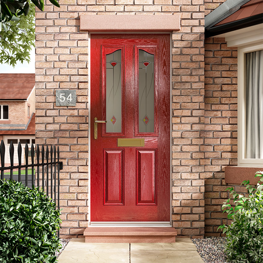 Lipstick Red composite door