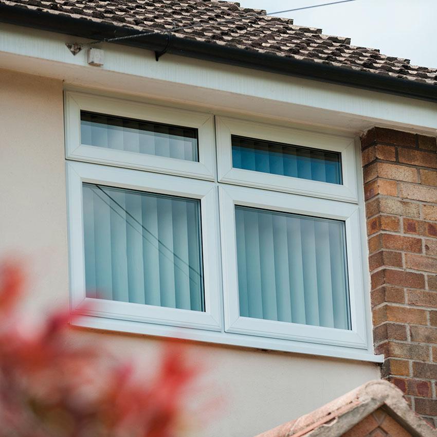 White uPVC casement window Buckinghamshire