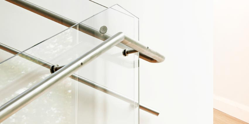glass stair railing balustrades