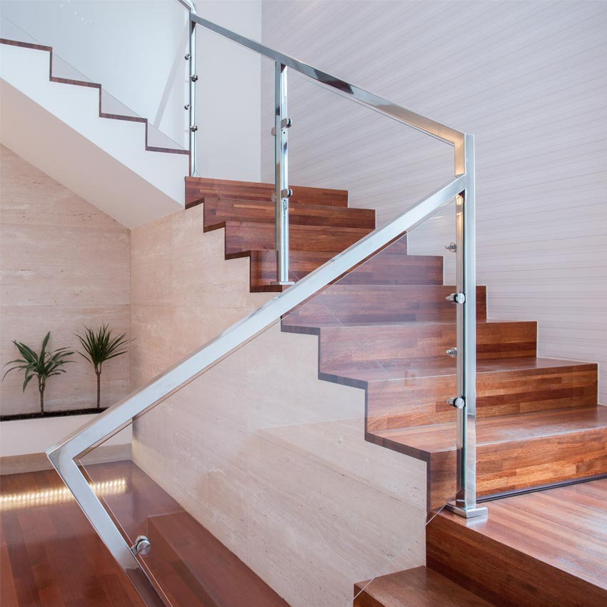 frameless Glass balustrades for stairs