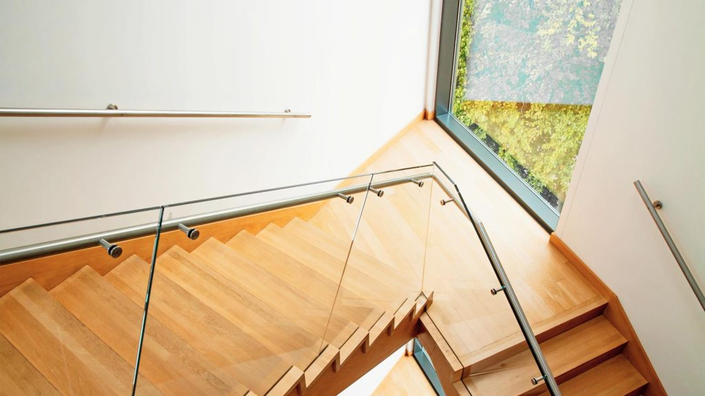 framless Glass balustrades for stairs