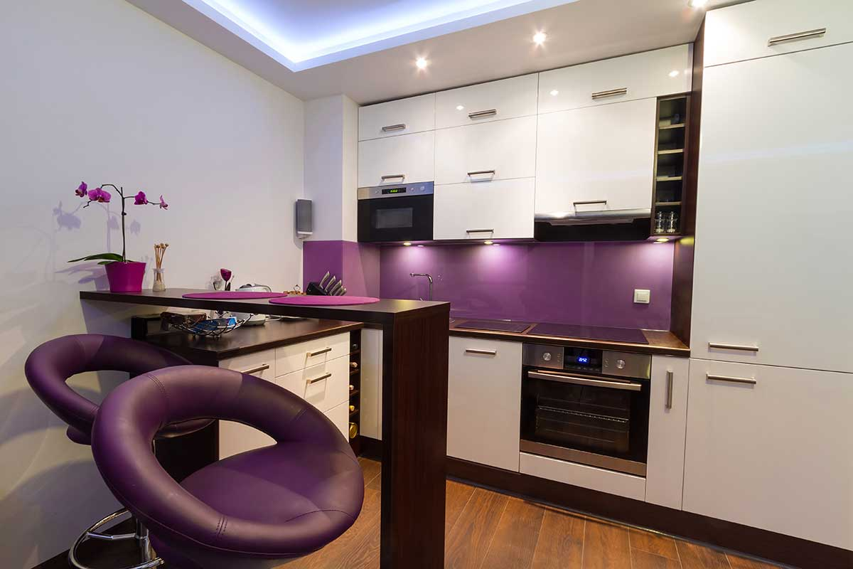 purple glass kitchen splashback high wycombe