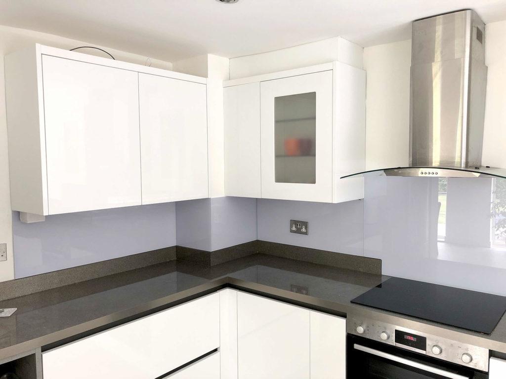 Purple Kitchen Glass Splashbacks
